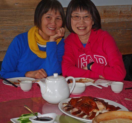Enjoying good company at the celebration luncheon